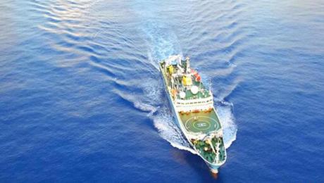 科学観測船「海洋6号」、大洋 ...